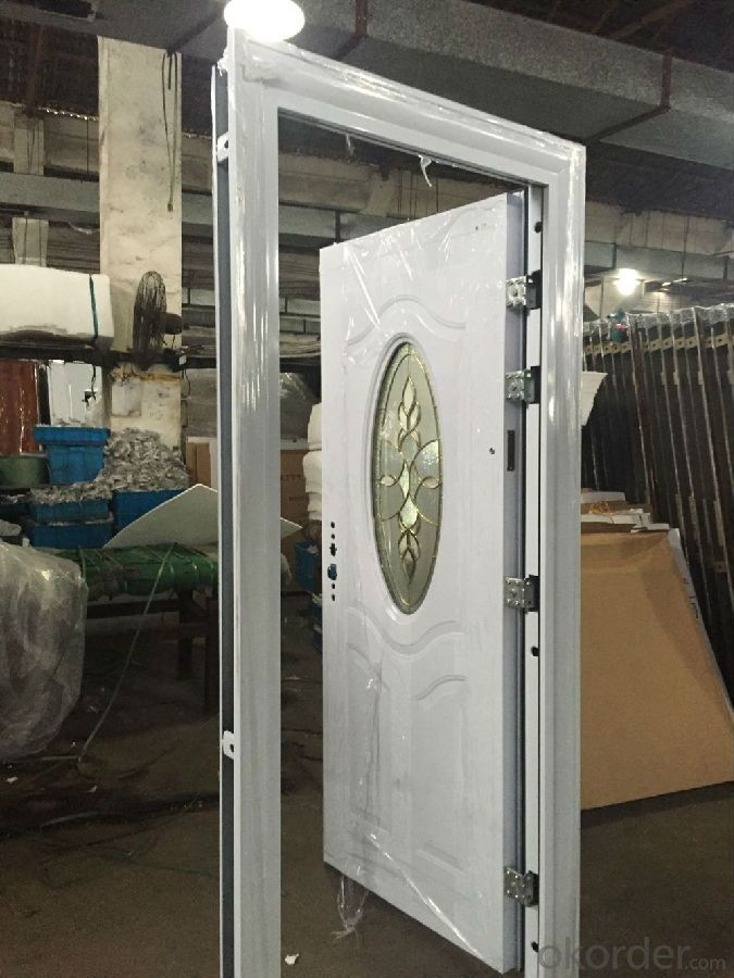 Security Metal doorFire Rated Steel Fire Door with BS and UL Certificate