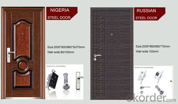 Security Metal door Fire Rated Steel Fire 836