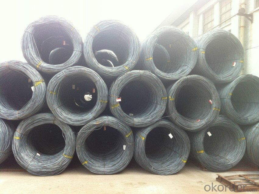 Supply 6.5mm steel wire rod in coils with grade A quality