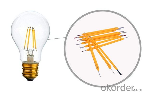Dimmable LED filament bulb led globe bulb MADE IN CHINA high quality