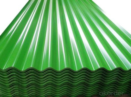 Premium Green Colored Corrugated Roofing Metal Sheet