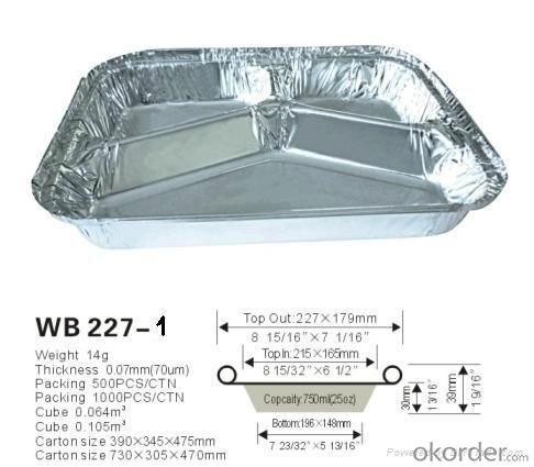 3003 Disposal Container Aluminum Foil, FDA Aluminum Foil, Aluminum Foil Tray