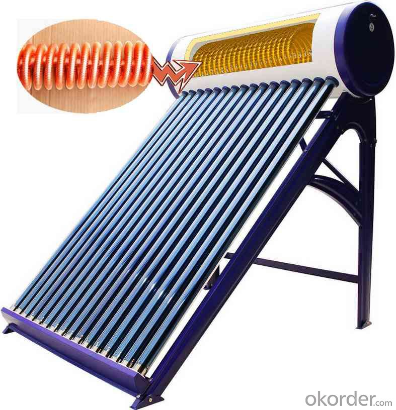 Solar Collector Water Heater With Copper Coil New Designed