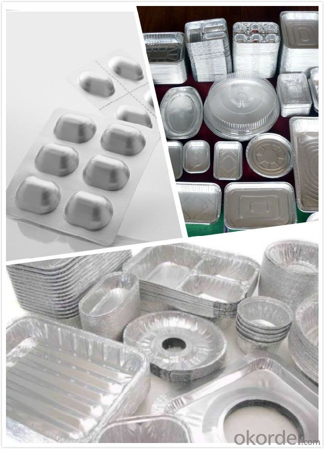 Aluminum foil container - pie pan FOR FOOD 8011 1235