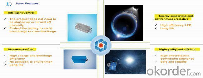 8W LED Solar Street Light, IP65, 3years Guarantee