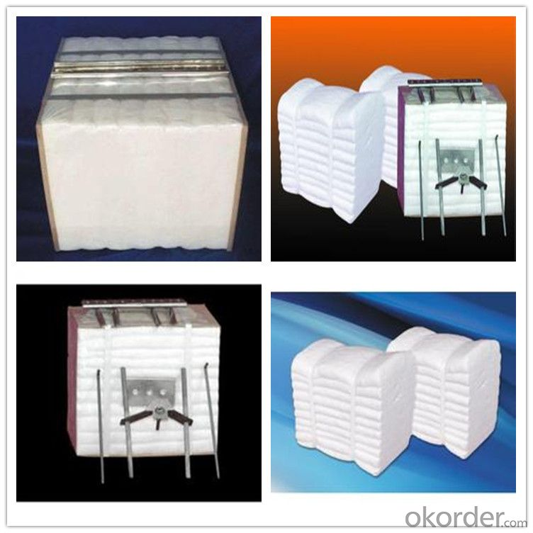 Ceramic Fiber Module with ss 310 Anchors for Industrial Kilns