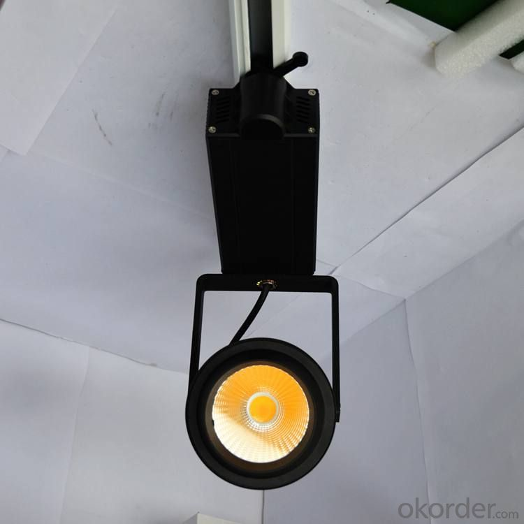Black led cob track light 50W CE RoHs SAA Certification