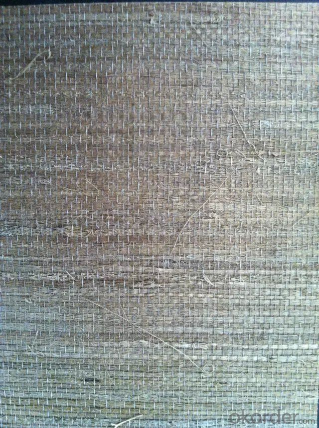Grass Wallpaper Handmade Beautiful Stripes Grass Cloth Wallpaper for Sale