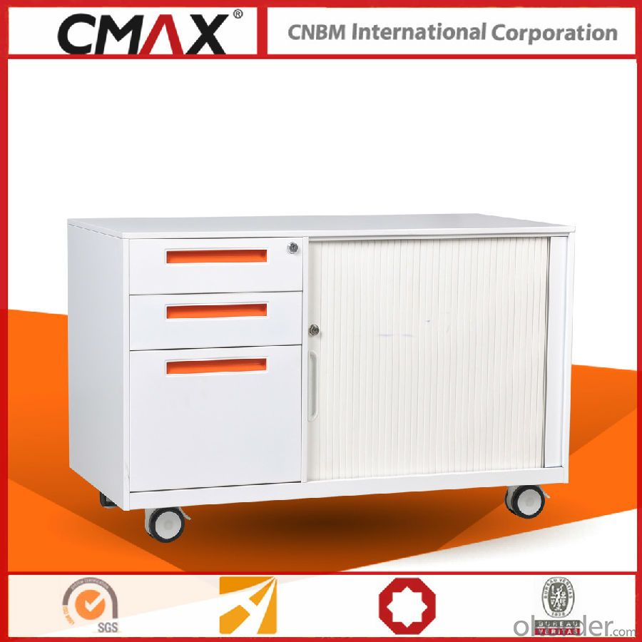Office Metal Mobile Caddy Cabinet CMAX-RT-L-BBF