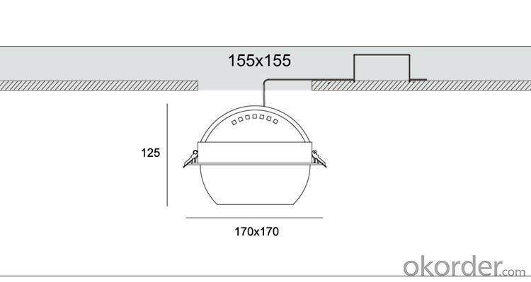 LED COB Ceiling Spotlight 20W for 3 years warranty