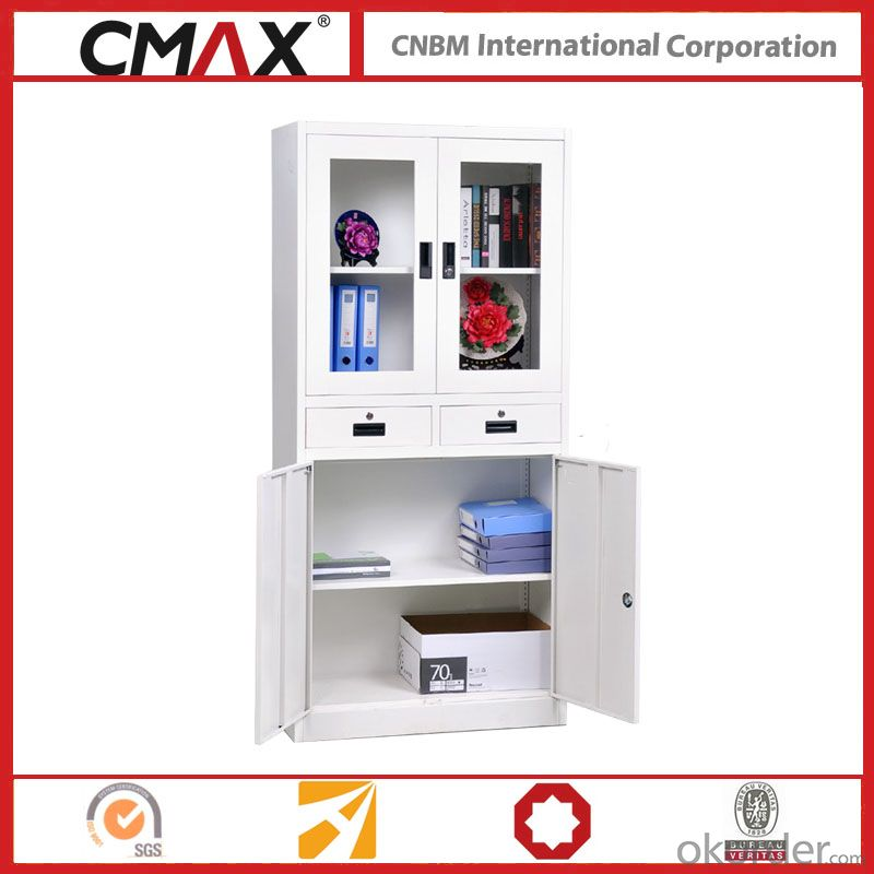 Filing Cabinet Full Height Cupboard with Drawer White Cmax-Sc007