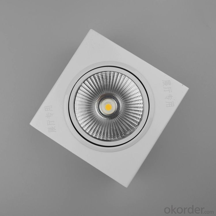 10W Square CREE cob led ceiling light with surface mounted