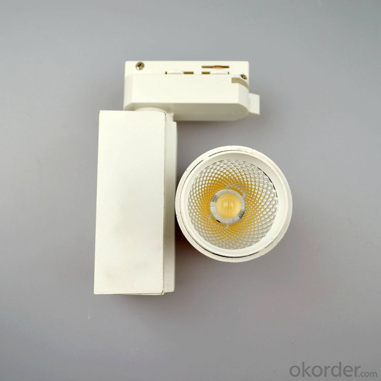 white 7W mini led cob track light for CE ROHS Certification