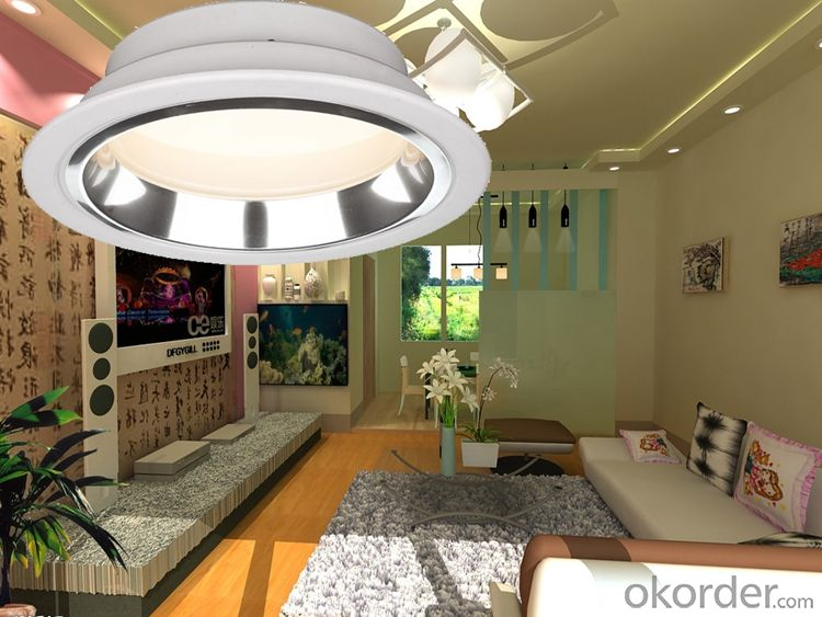 Round aluminum recessed SMD LED Downlight 5W /7W/9W/12W/15W/18W