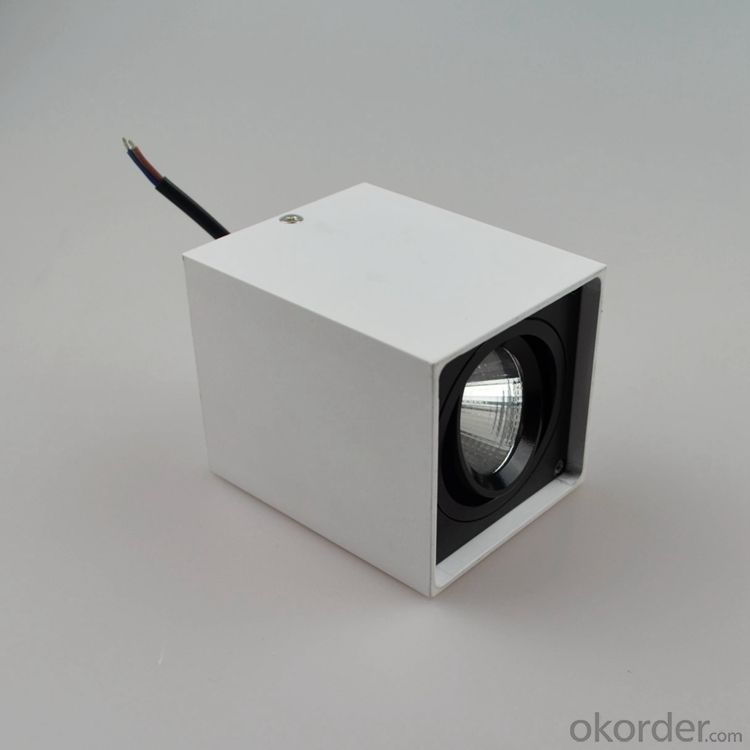 square surface mounted Led Downlight 7W/10W for black or white finish