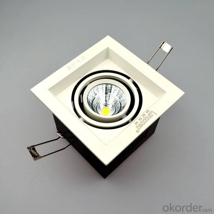 Square Led COB Grille light 6W white and black housing