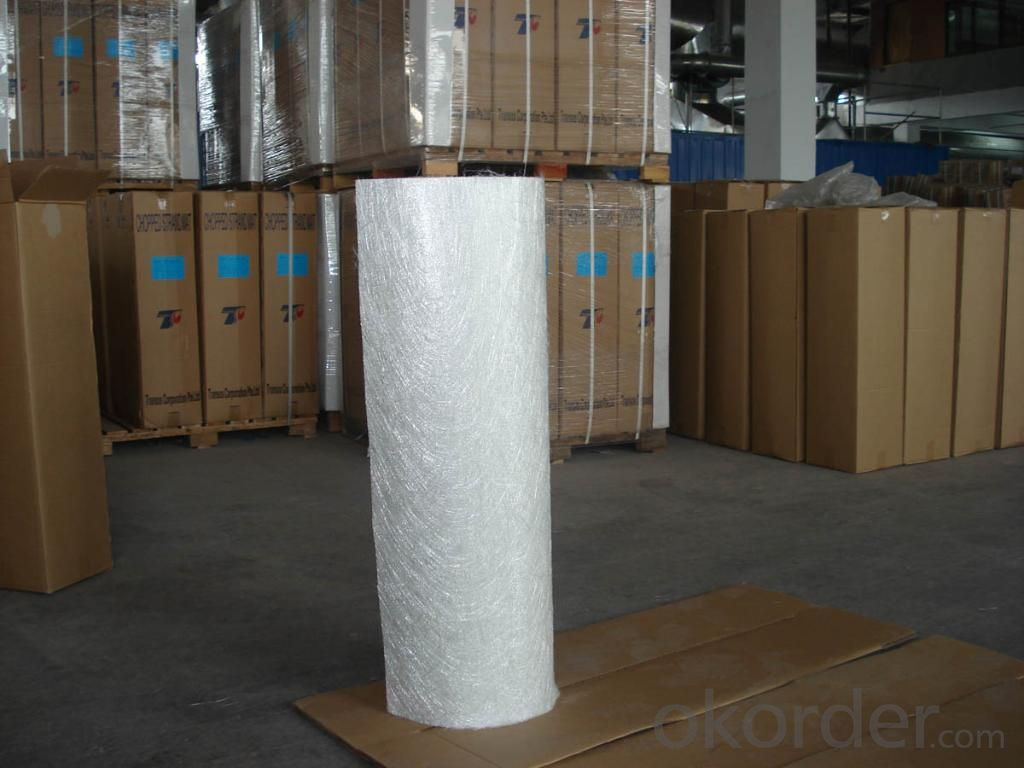 E-Glass Fiber Material Pipe Wrapping Silica Needled Mat