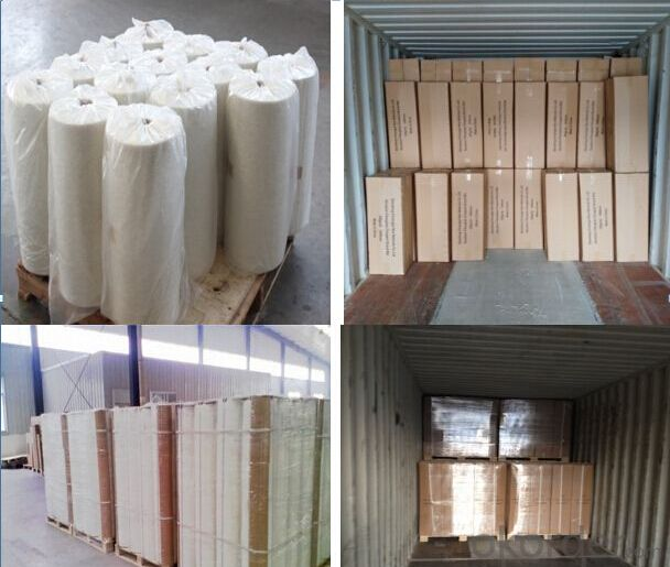 Silicone Coated Raw Material Glass fiber Chopped Strands Matting
