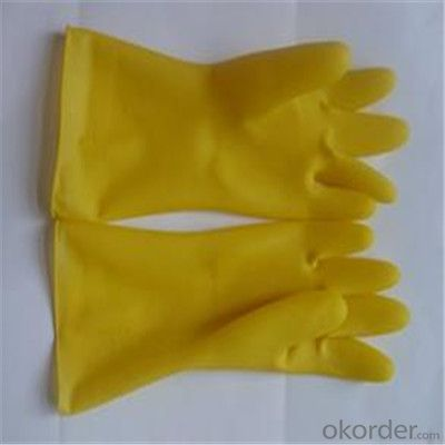 Latex Household Gloves Working Glove  Waterproof Long Gloves
