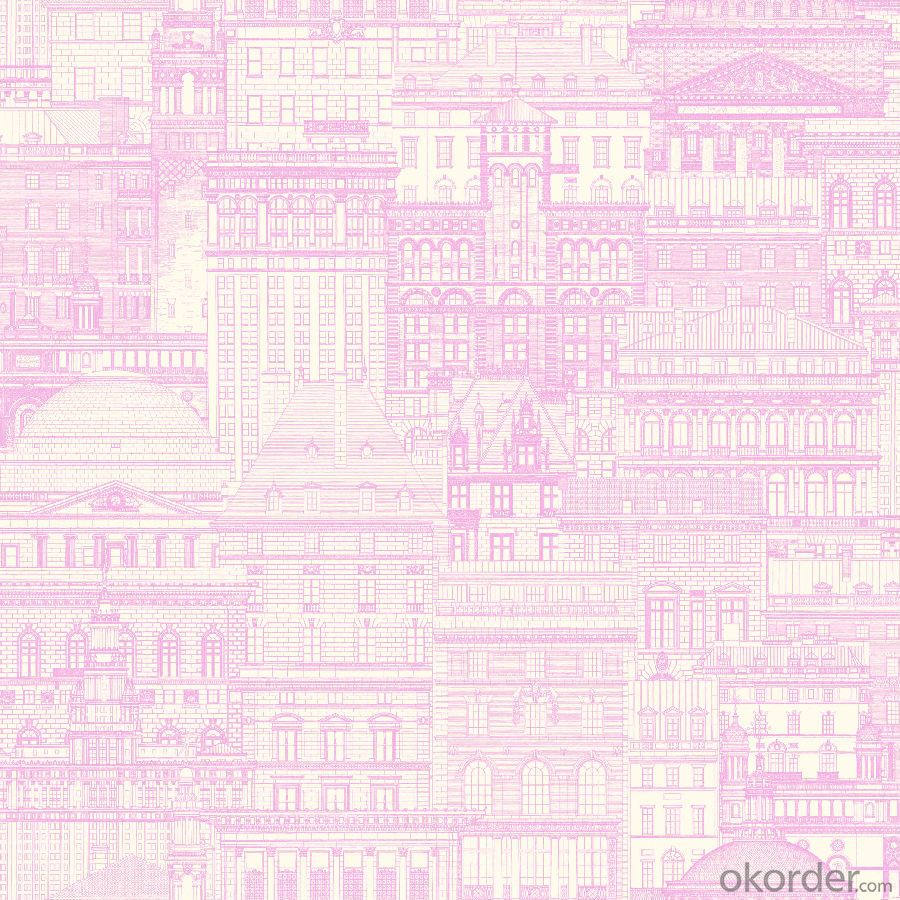 PVC Wallpaper Purple Wallpaper Polaris Jute Wallpaper Heat Sensitive 3D Wallpaper