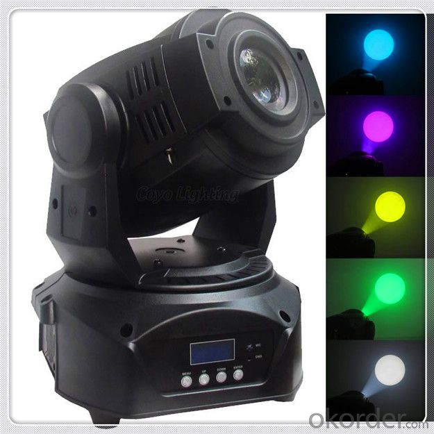 2X 15W LED Mini Moving Head Spot RGB Stage Lighting  DJ Party Light Gobos Club