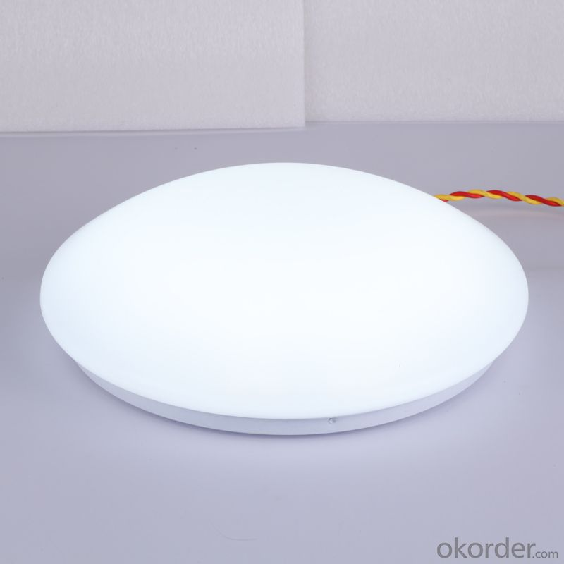 Stylish modern minimalist white interior LED Round Ceiling