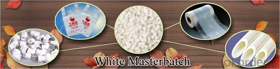 Plastic White Masterbatch Color & Additive Master Batch for Film PPR Pipe