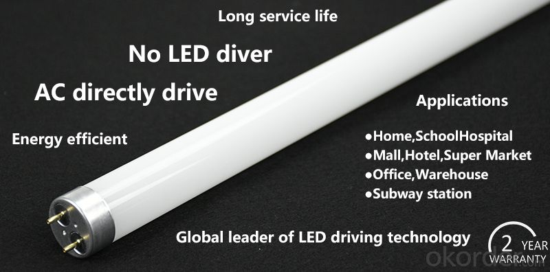 4' Led Tubes high luminous efficacy AC directly drive