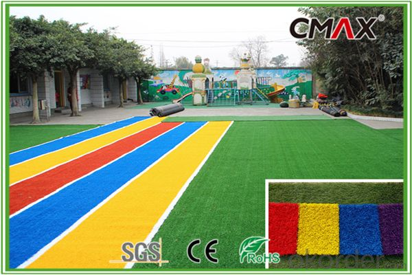U.V. Resistance PE Monofilament yarn & PP Curly Yarn Soft-Feeling Artificial Lawn for Schools