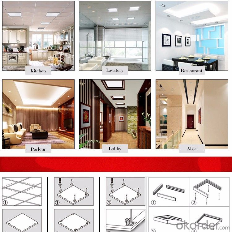 UL LED Panel Light 1x4 ultrathin 40 w led panel 30x120