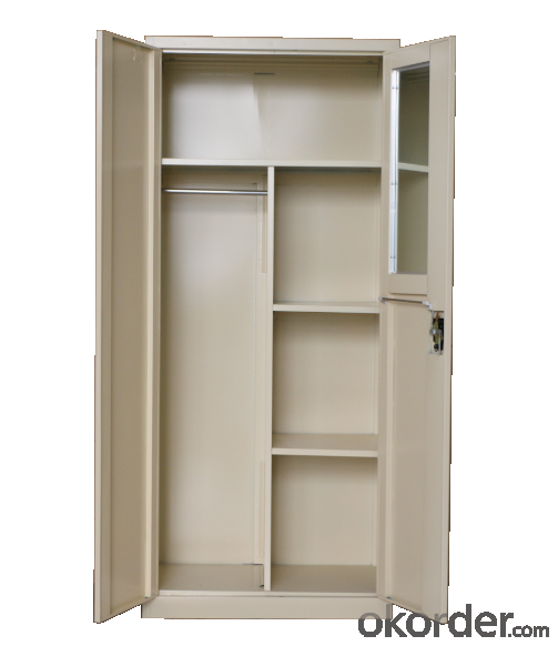 Swing Door Office Filing Cupboard with Mirror inside