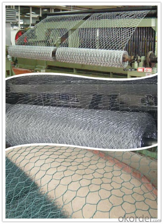Hot Dipped Galvanized Hexagonal Gabion Box / Gabbion Basket