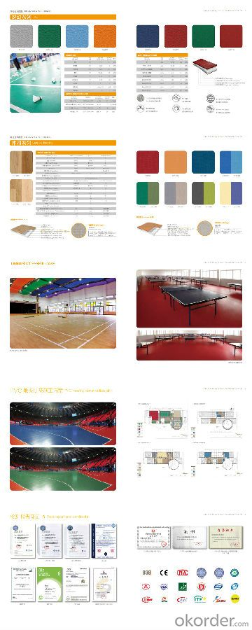 PVC Flooring for Indoor Basketball, Sports Flooring, 6811