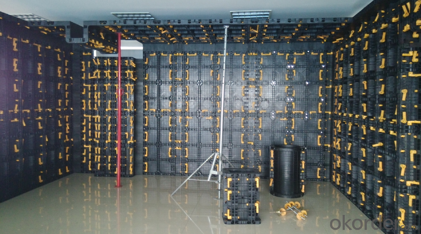Plastic Modular Formwork System with High Loading Capacity