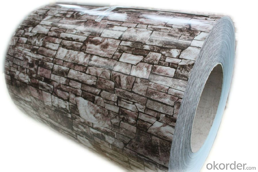 Wood Grain Color Coated Aluminum Sheet Used For Home-Decorating