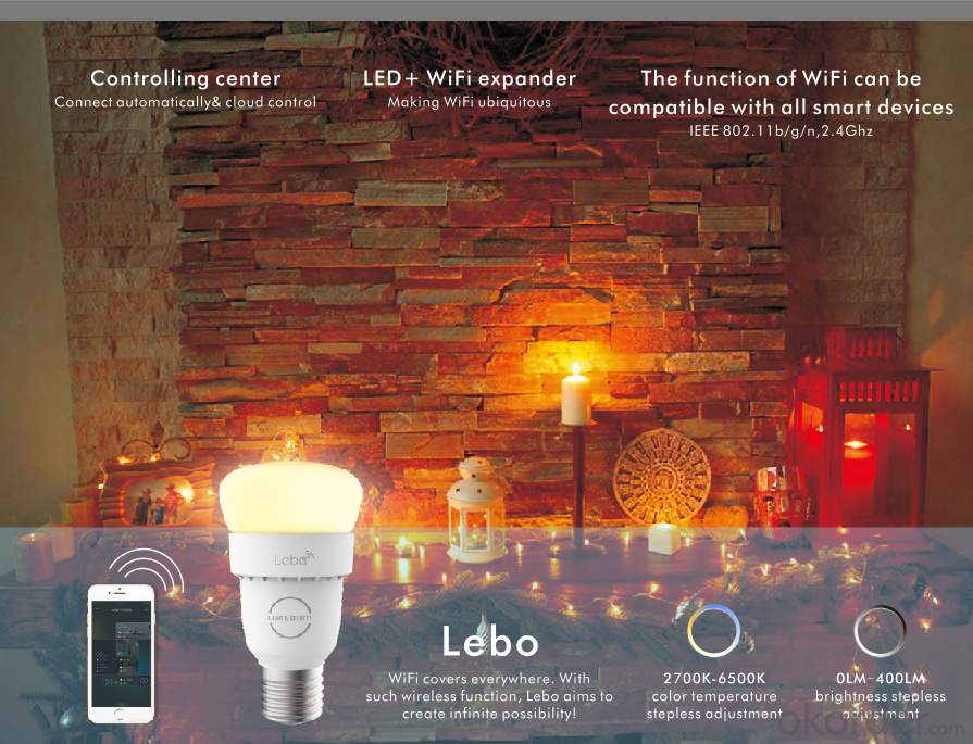 SMART LIGHT- SMART BULB- WIFI  LIGHT-APP LIGHT