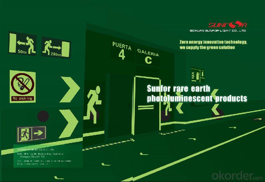 RARE EARTH PHOTOLUMINESCENT SIGNS SELF-LUMINOUS SIGNS