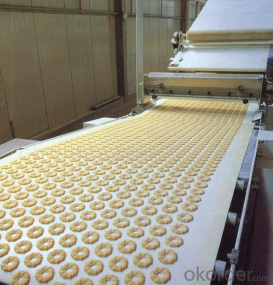 White Food Grade PVC PU Type Biscuit Conveyor Belt