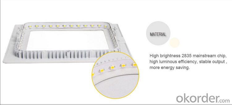 LED PANEL LIGHT 9W Square ceiling light ce rohs emc iec