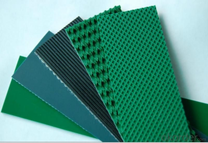 Green Smooth Gloss Matt PVC/PU Conveyor Belt
