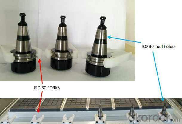 ISO30 Tool Changer CNC Tool Holder Plastic Forks