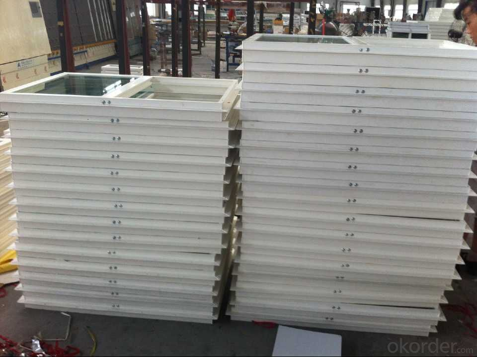 PVC window and door with double glazing or Low E glass film packing