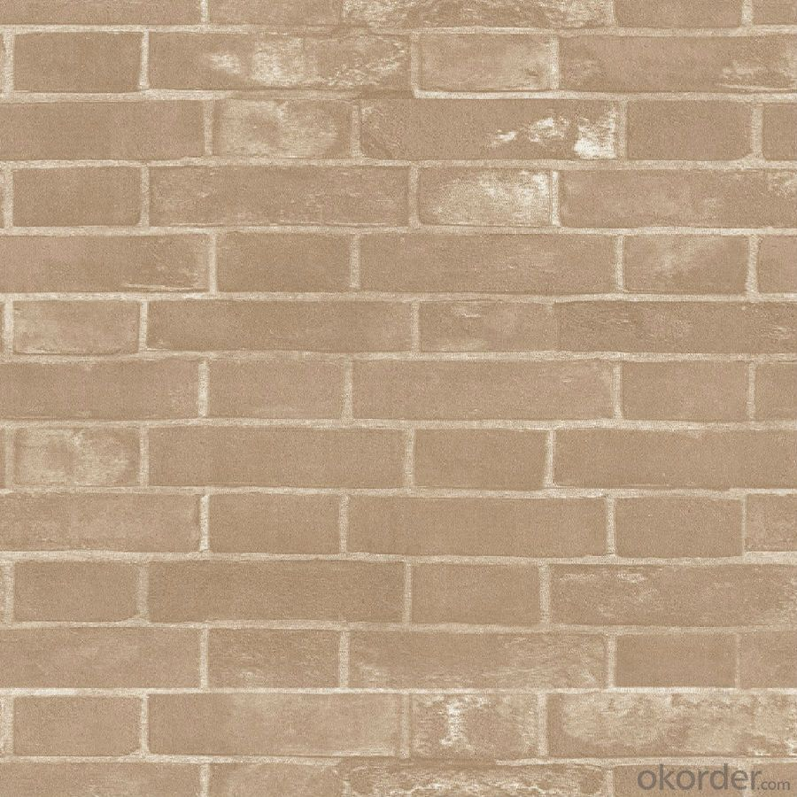 PVC Wallpaper CNBM 3D White Brick Embossed Self Adhesive Wallpaper Decorative