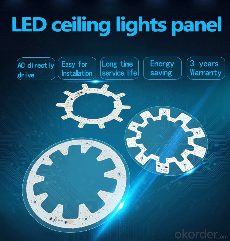 Ceiling light LED panel  light source bedroom furniture set