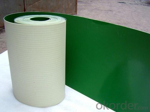Green White Blue PVC Conveyor Belt with Good Flexiblity