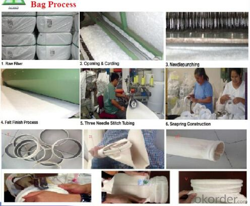 Industrial Nonwoven Needle punched Anti-static Polyester Filter Bag