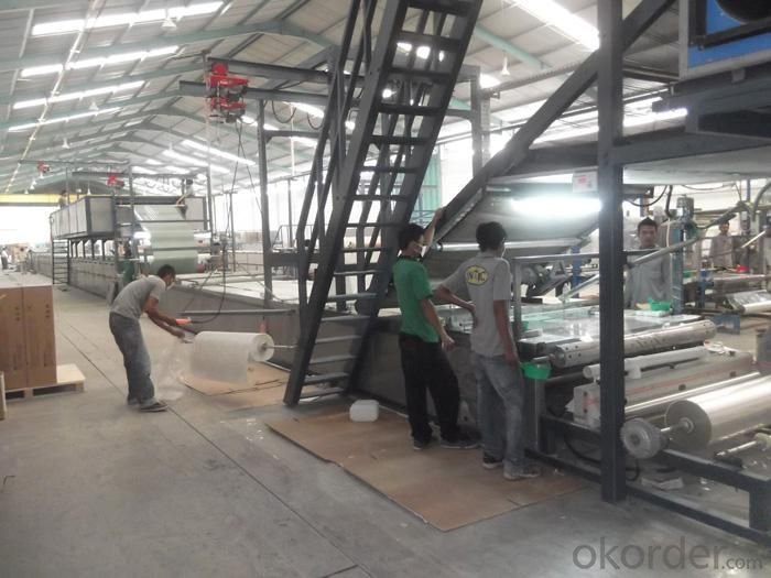 FRP gel coat tile production line