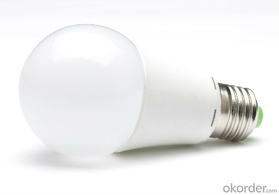 LED Lamp Plastic Bulb A60 200 Degree 6W E27