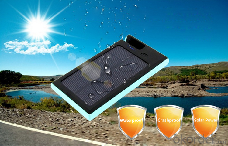 12000mAh Outdoor Waterproof Solar Power Bank Solar powered Charger with Cellphone Stand Function