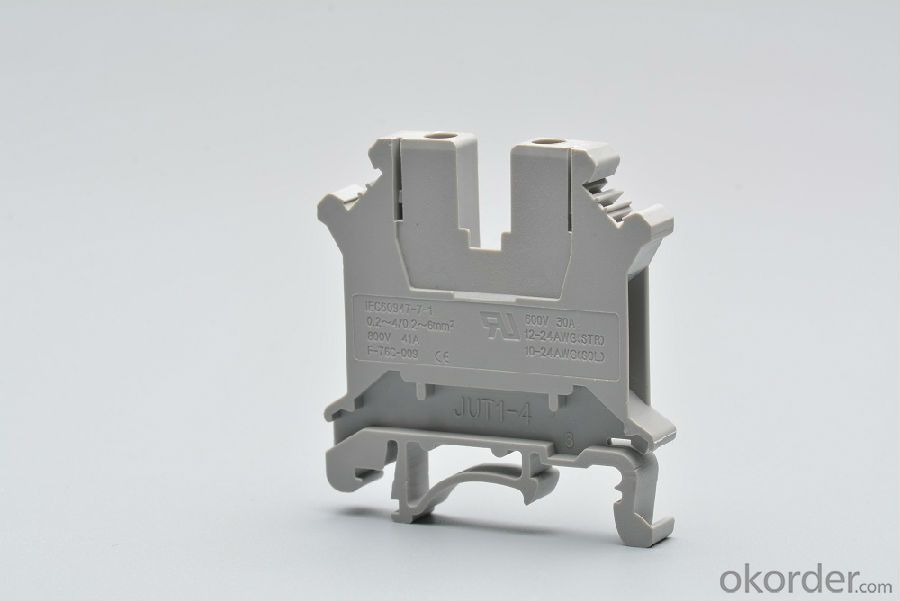 Din Rail Screw Terminal Blocks 4 mm2 800V 41A